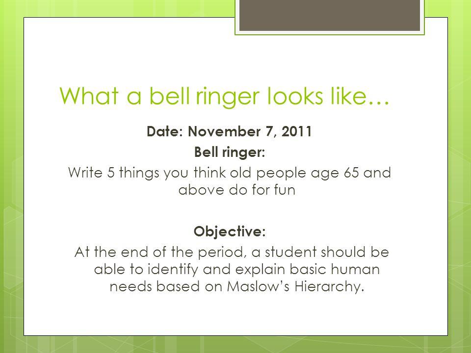 What a bell ringer looks like…