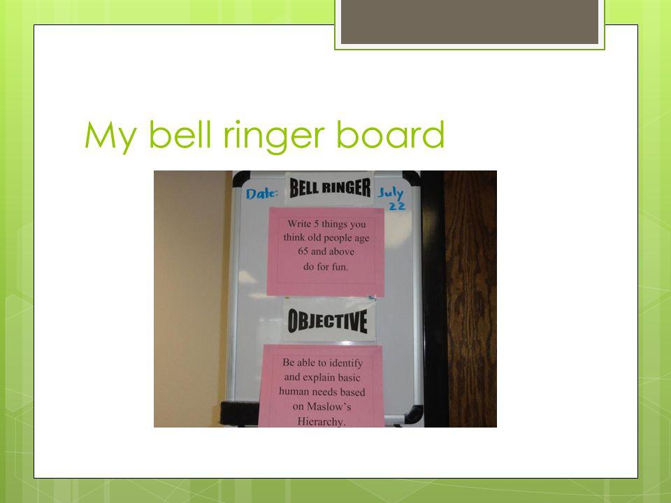 My bell ringer board