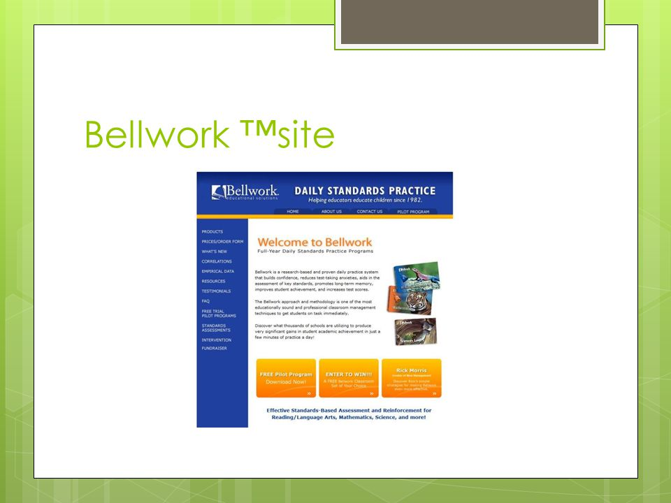 Bellwork ™site