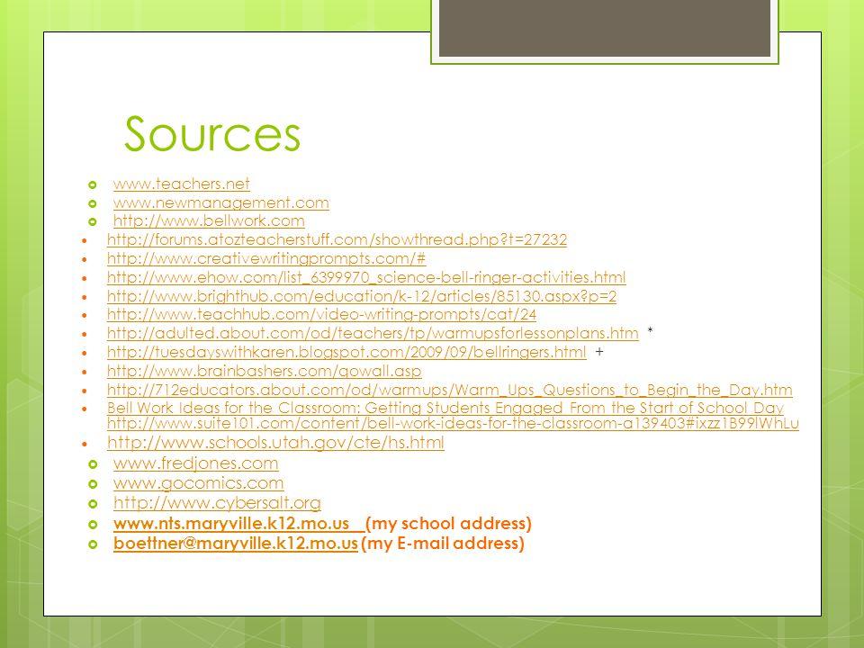 Sources http://www.schools.utah.gov/cte/hs.html www.fredjones.com