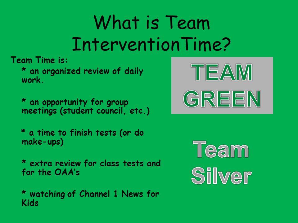 What is Team InterventionTime