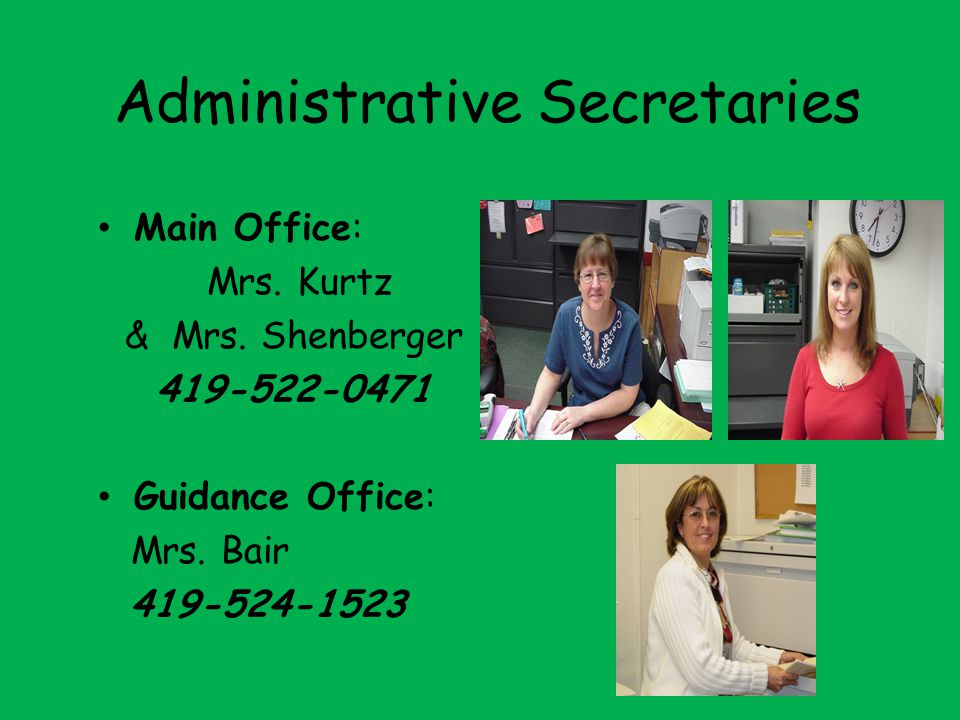 Administrative Secretaries