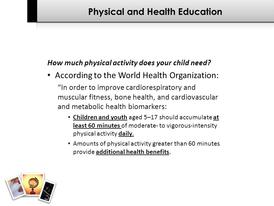 Physical and Health Education