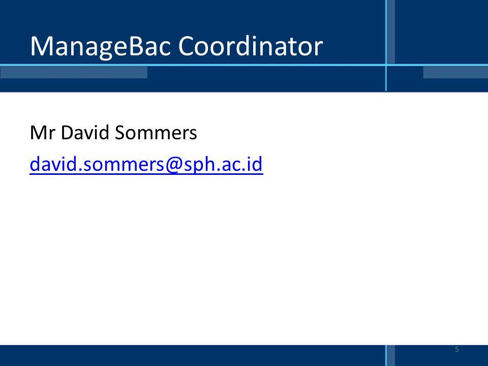 ManageBac Coordinator
