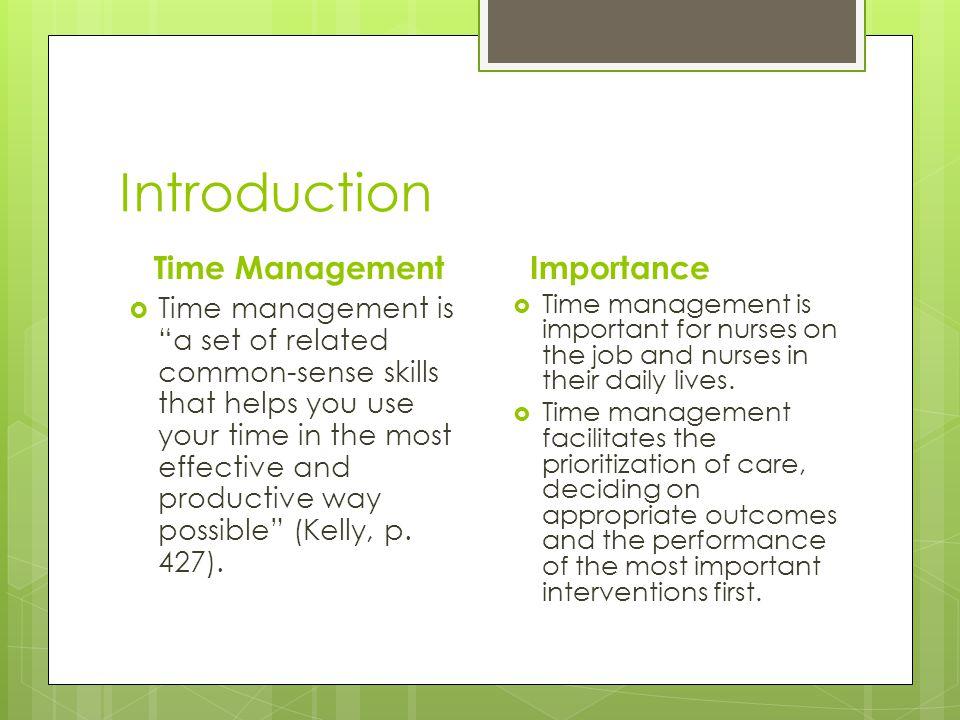 Introduction Time Management Importance