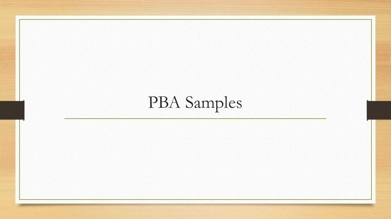PBA Samples