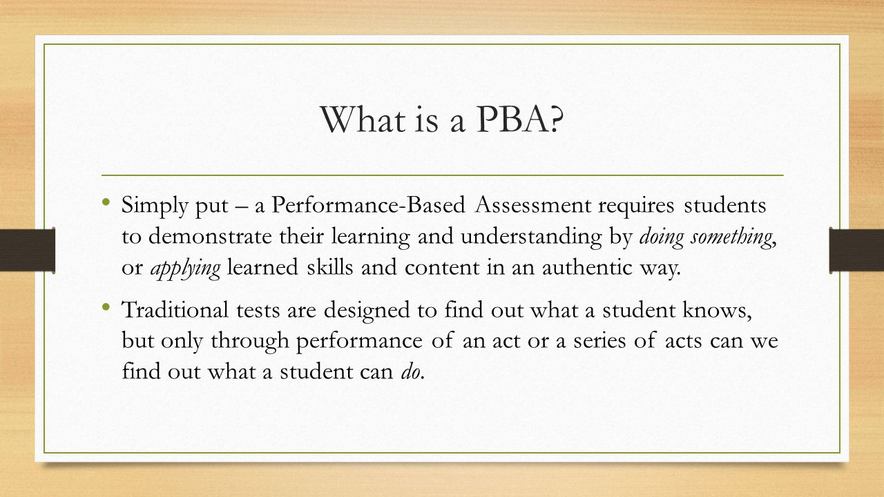 What is a PBA