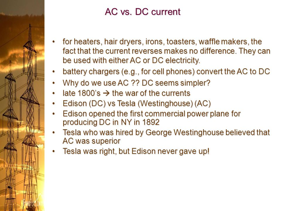 AC vs. DC current