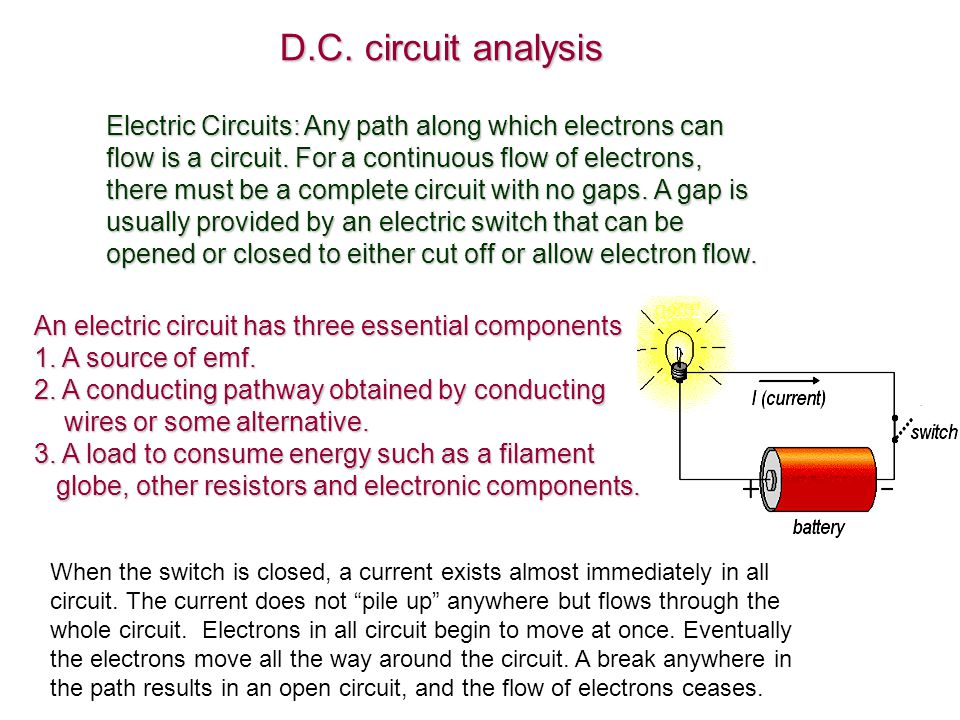D.C. circuit analysis