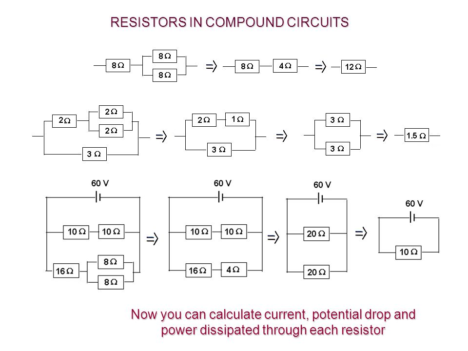RESISTORS IN COMPOUND CIRCUITS