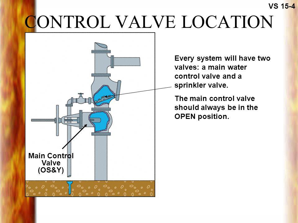 CONTROL VALVE LOCATION