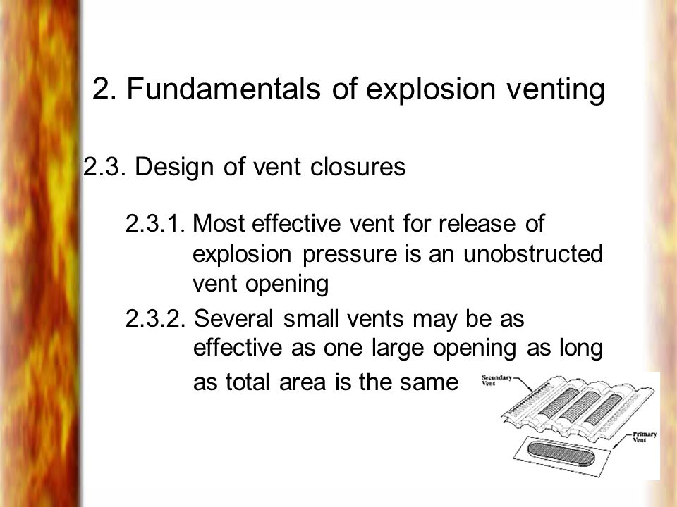2. Fundamentals of explosion venting