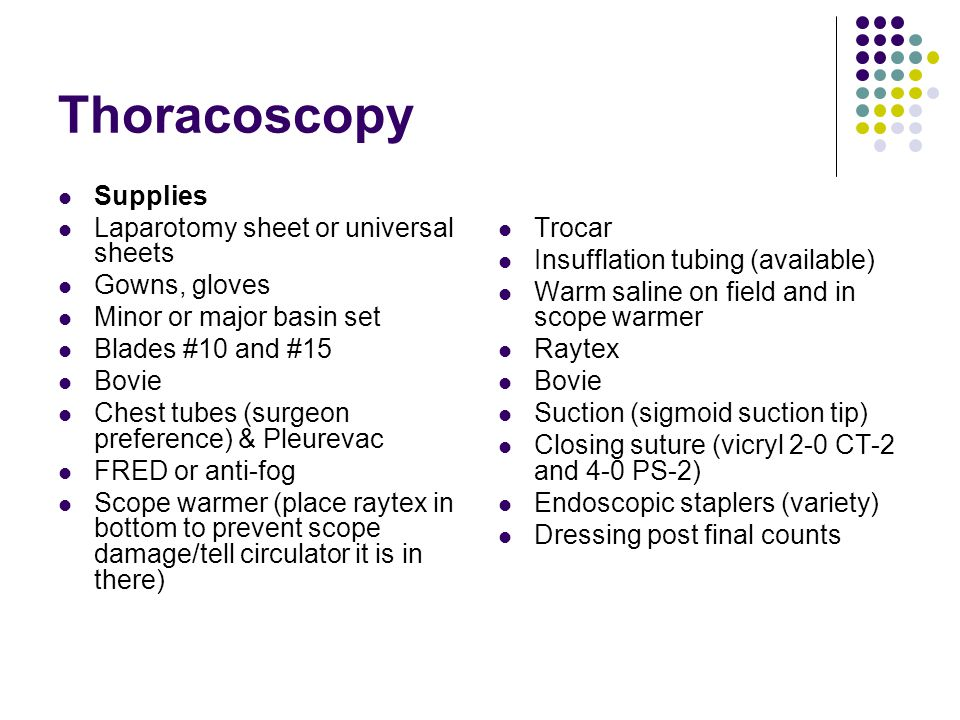Thoracoscopy Supplies Laparotomy sheet or universal sheets