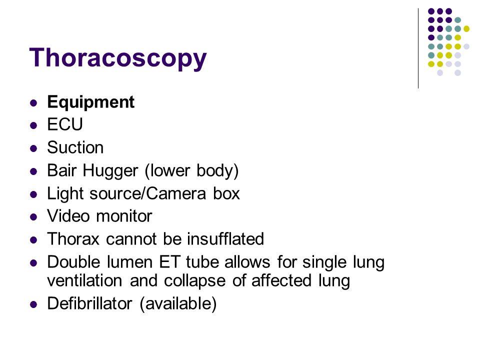 Thoracoscopy Equipment ECU Suction Bair Hugger (lower body)
