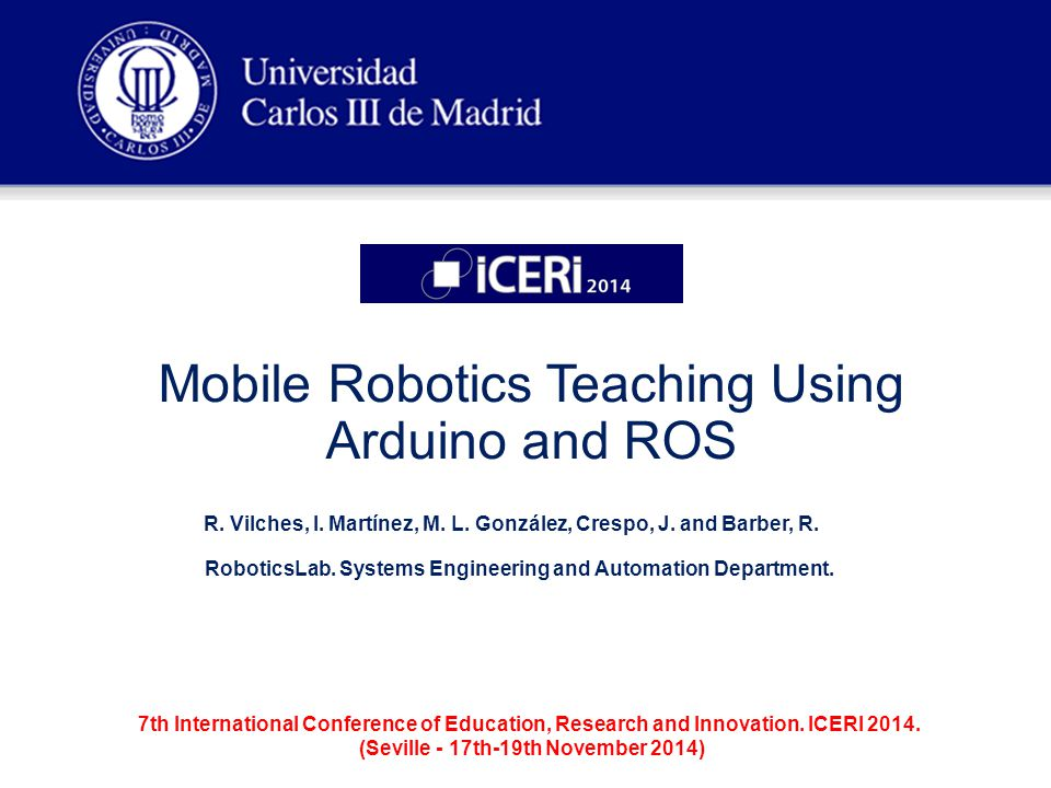 Mobile Robotics Teaching Using Arduino and ROS