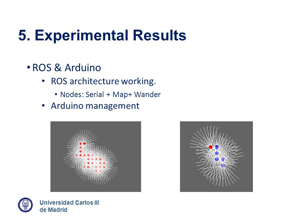 5. Experimental Results ROS & Arduino ROS architecture working.