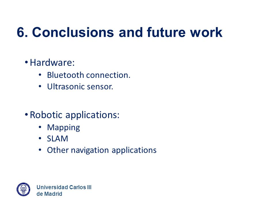 6. Conclusions and future work