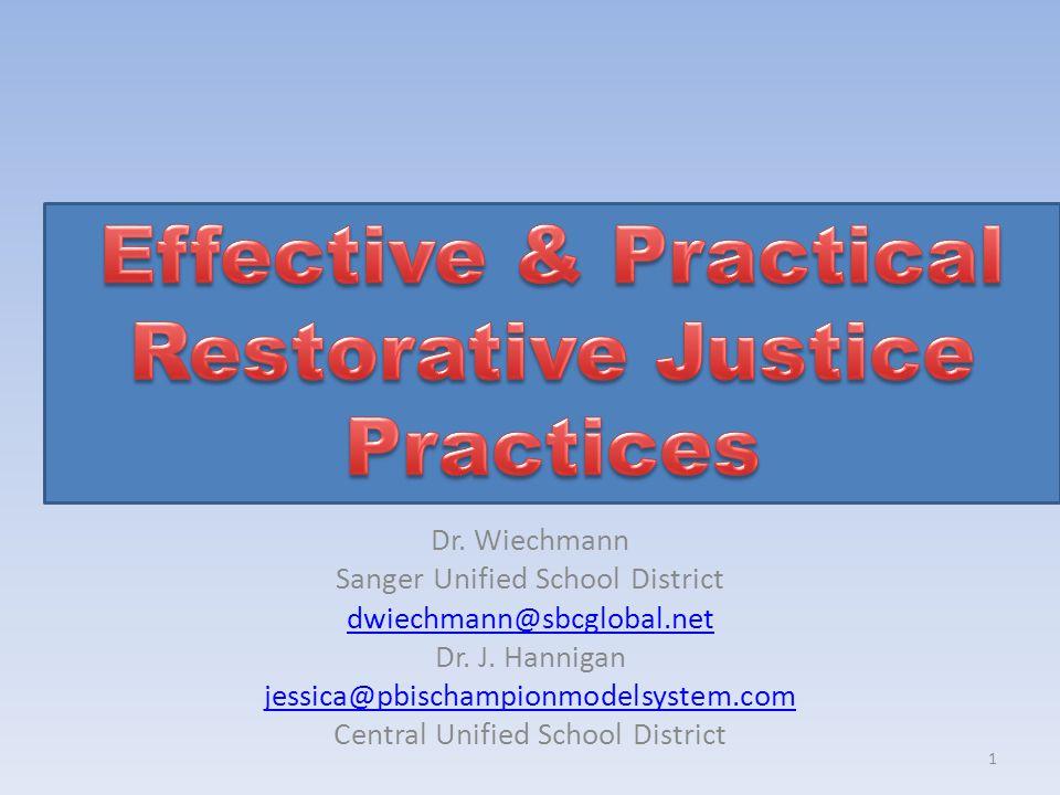 Effective & Practical Restorative Justice Practices