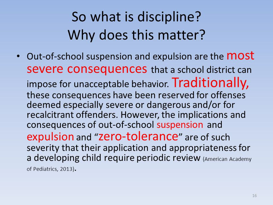 So what is discipline Why does this matter