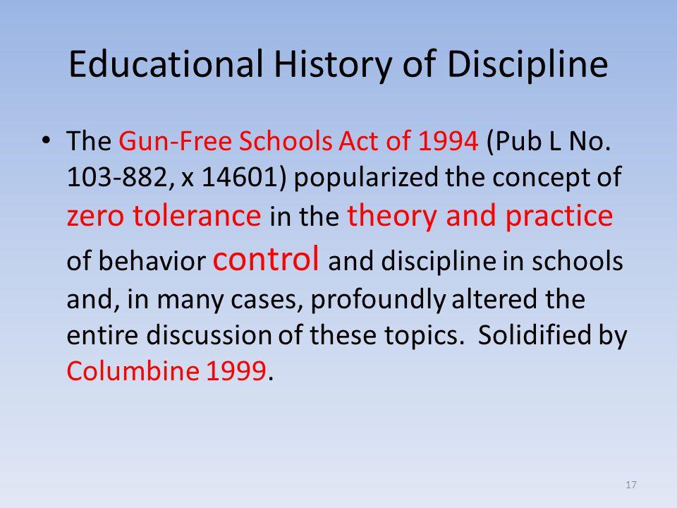 Educational History of Discipline