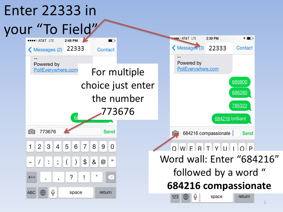 Enter 22333 in your To Field