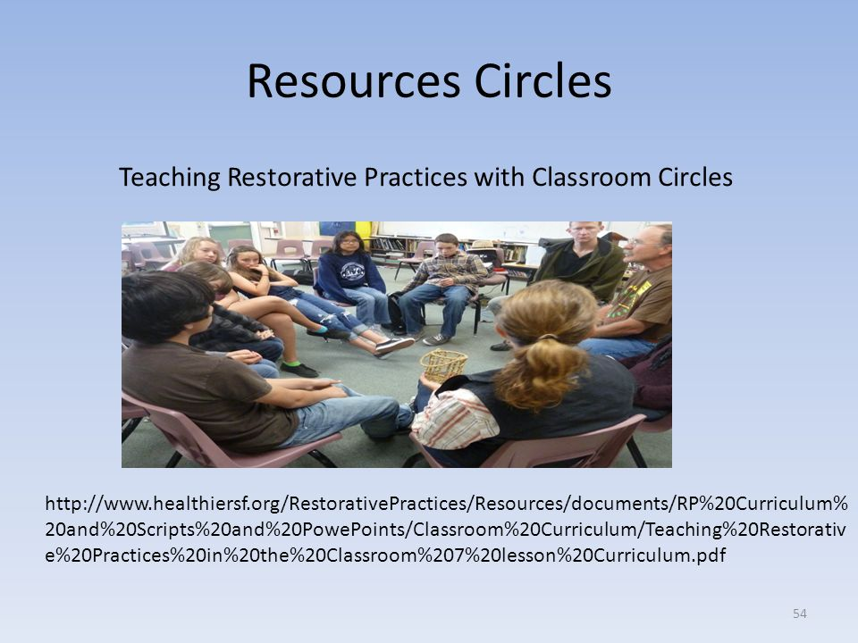 Teaching Restorative Practices with Classroom Circles