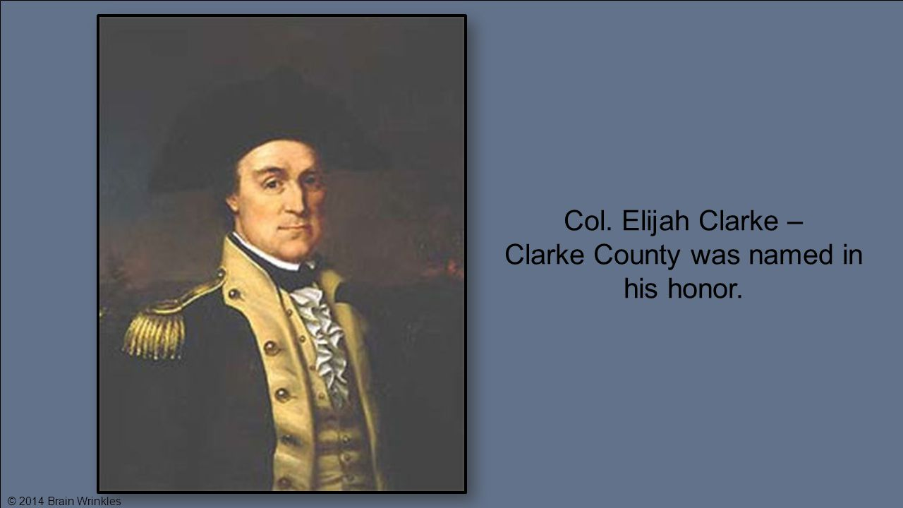 Clarke County was named in his honor.