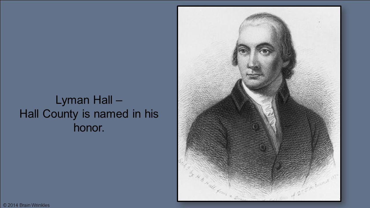 Hall County is named in his honor.