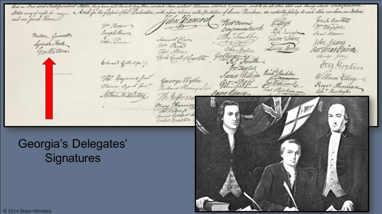 Georgia's Delegates' Signatures © 2014 Brain Wrinkles