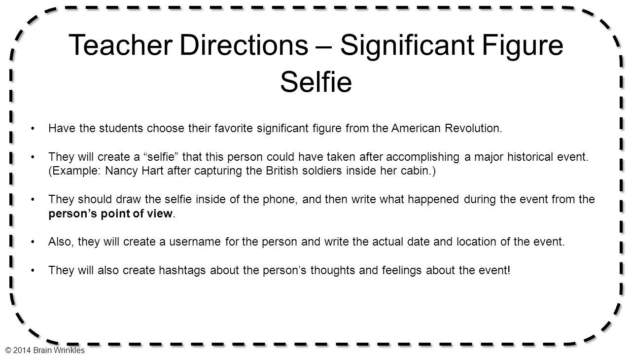 Teacher Directions – Significant Figure Selfie