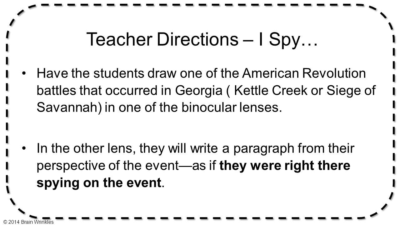 Teacher Directions – I Spy…