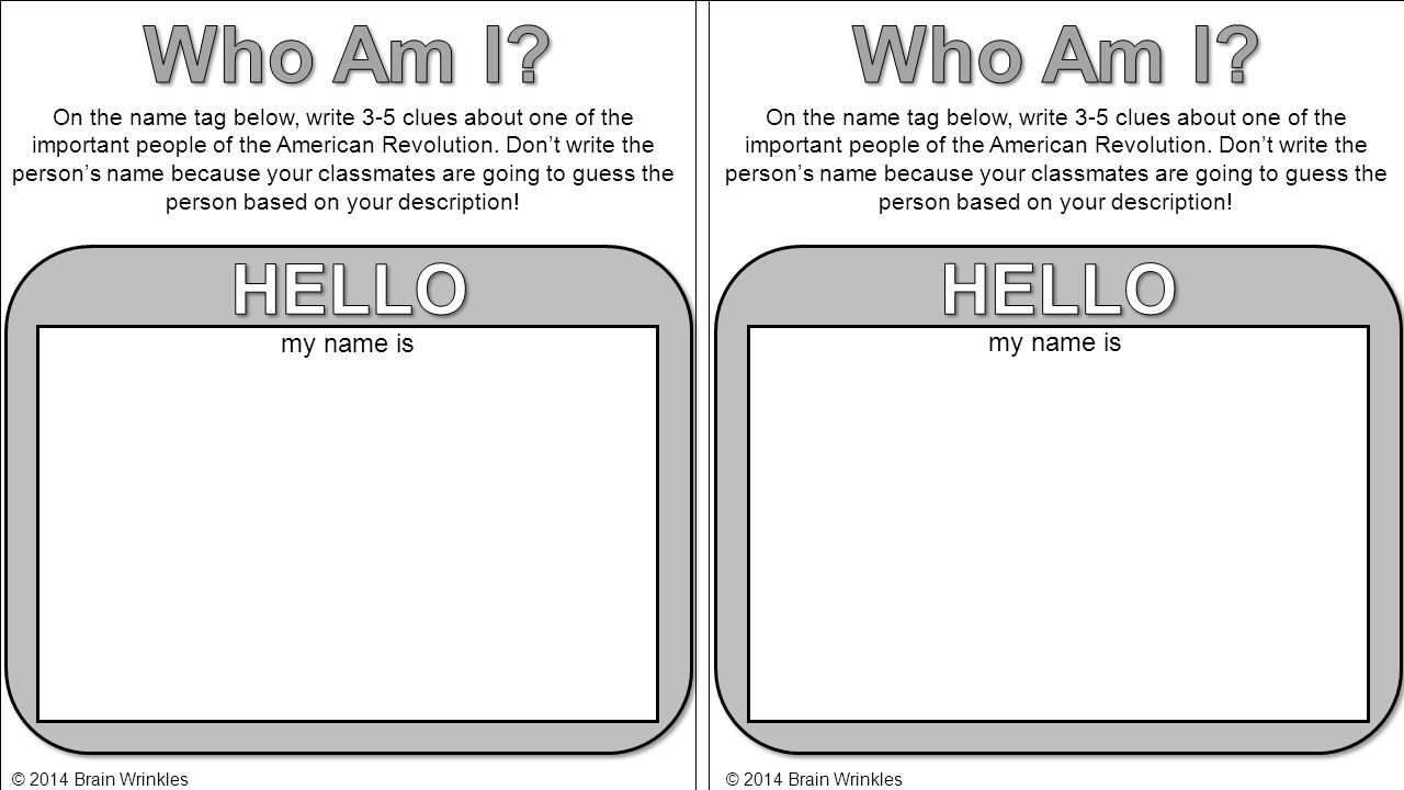 Who Am I Who Am I HELLO HELLO my name is my name is