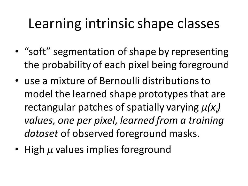 Learning intrinsic shape classes