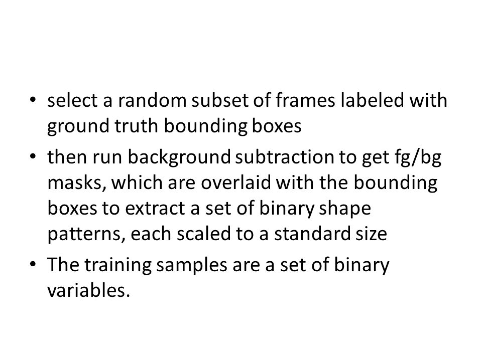 select a random subset of frames labeled with ground truth bounding boxes