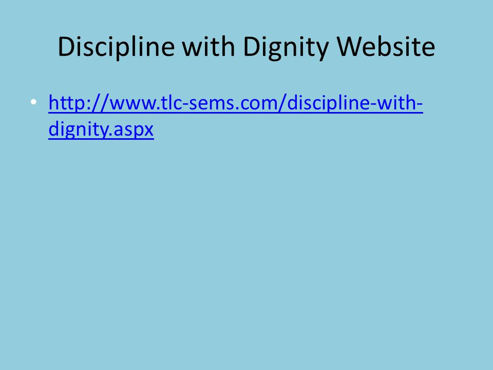 Discipline with Dignity Website
