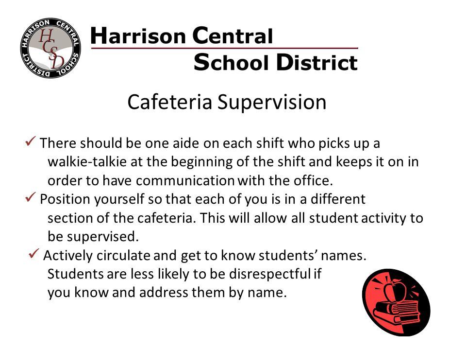 Cafeteria Supervision