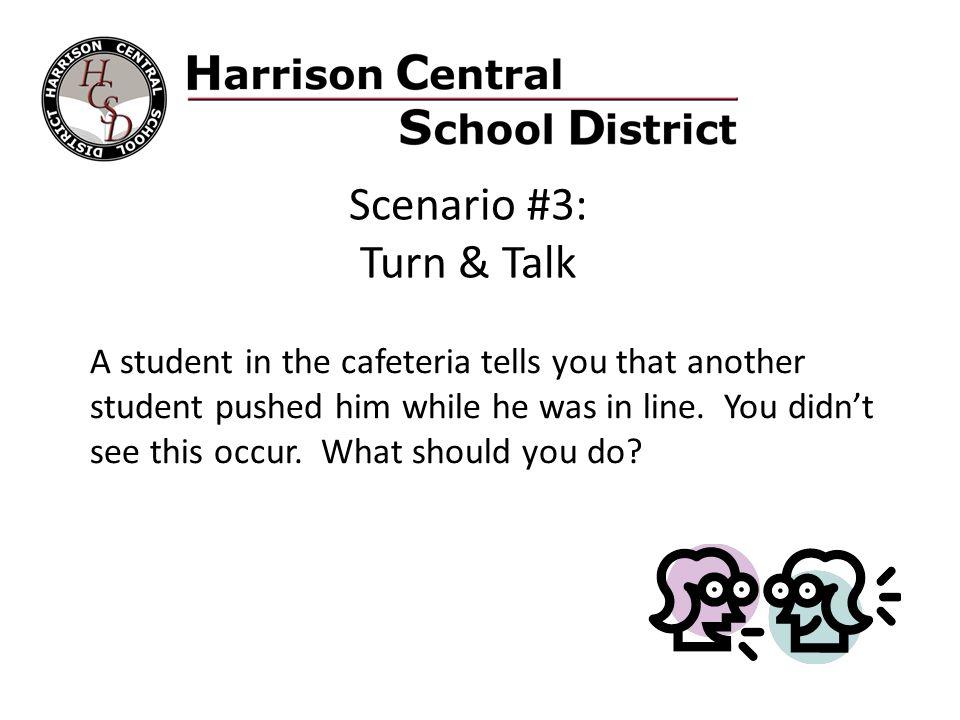 Scenario #3: Turn & Talk.