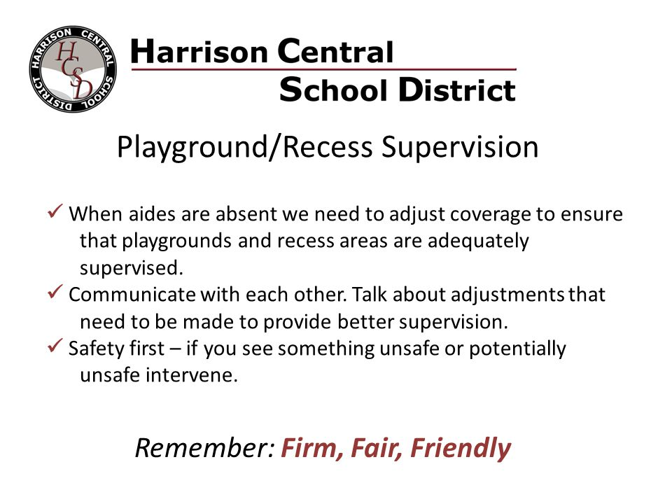 Playground/Recess Supervision
