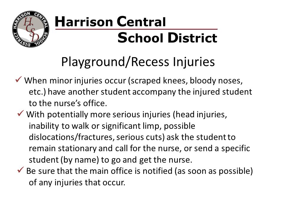 Playground/Recess Injuries