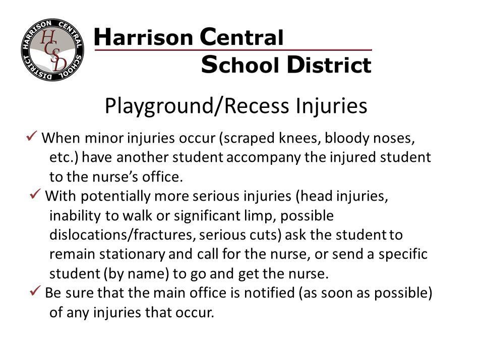 Playground/Recess Injuries