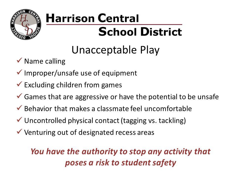 Unacceptable Play