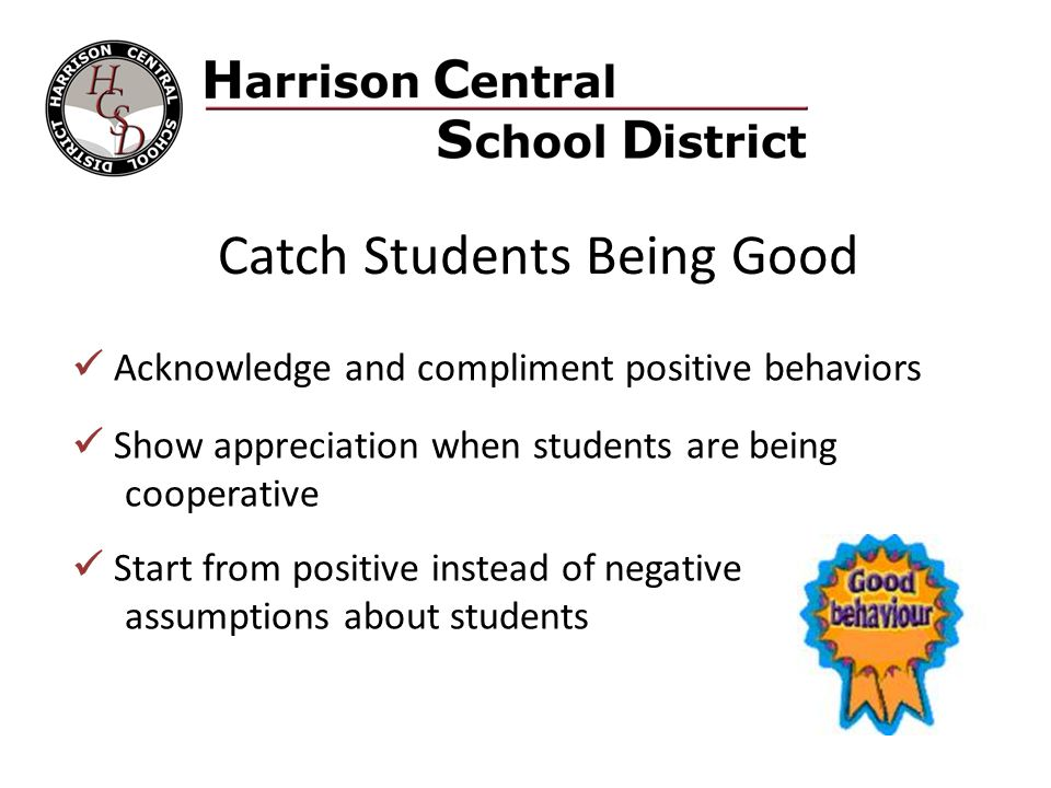 Catch Students Being Good