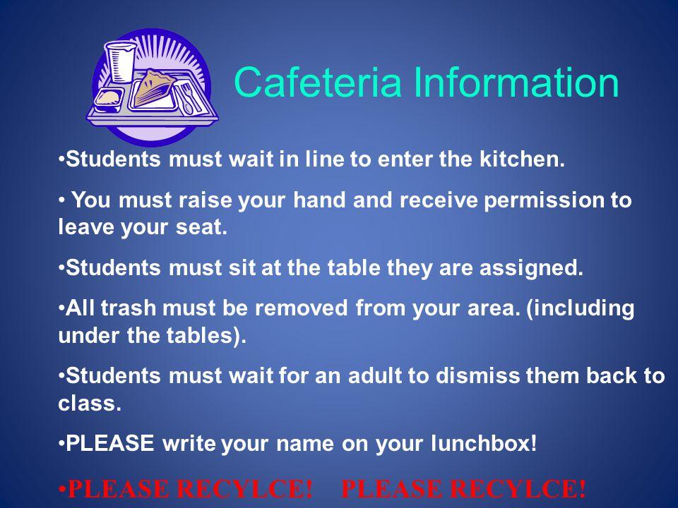 Cafeteria Information