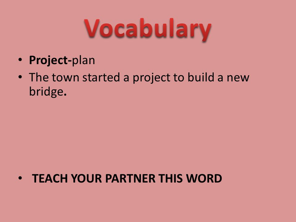 Vocabulary Project-plan