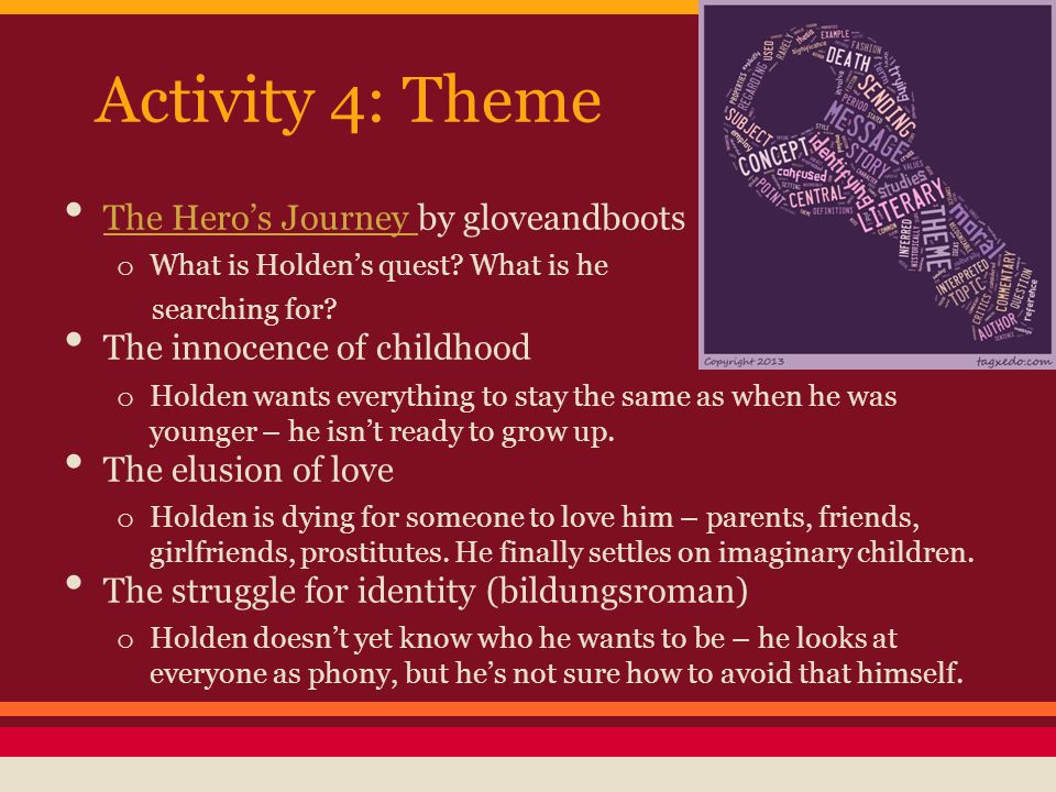 Activity 4: Theme The Hero's Journey by gloveandboots