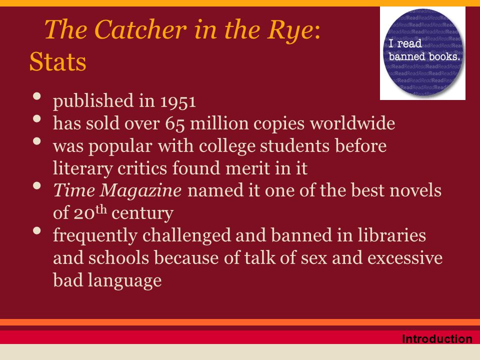 The Catcher in the Rye: Stats