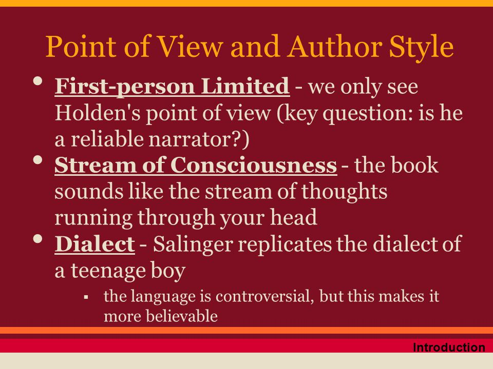 Point of View and Author Style