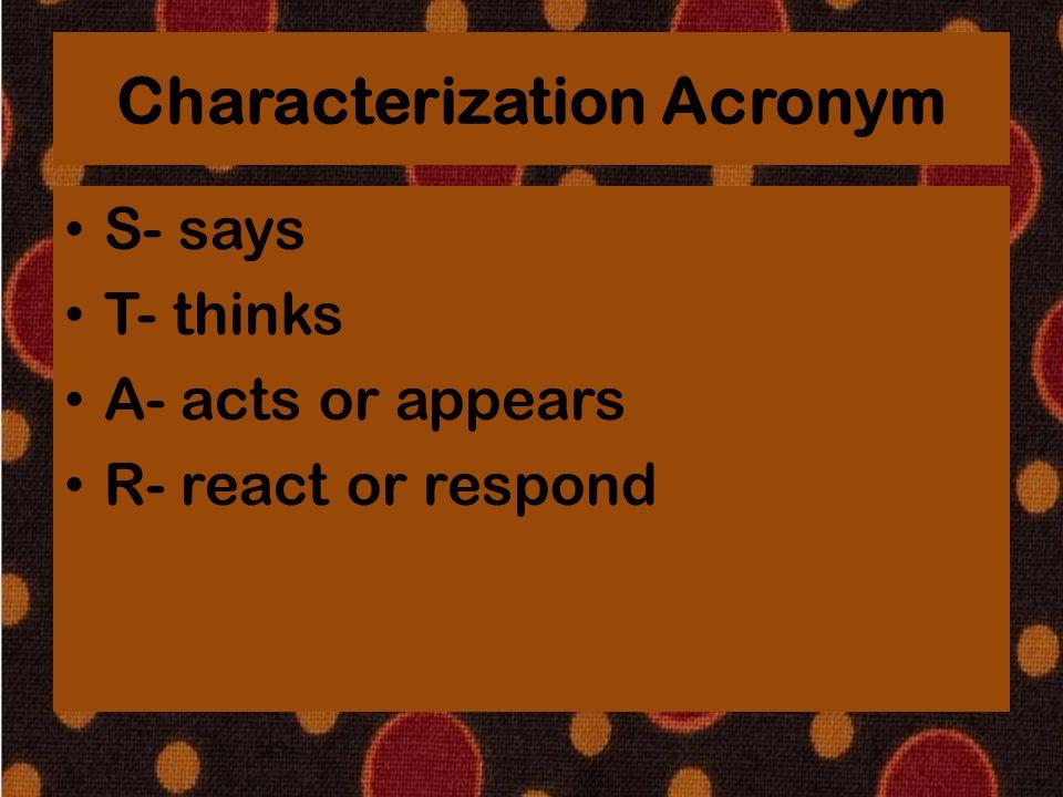 Characterization Acronym