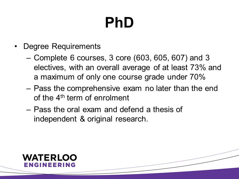 PhD Degree Requirements