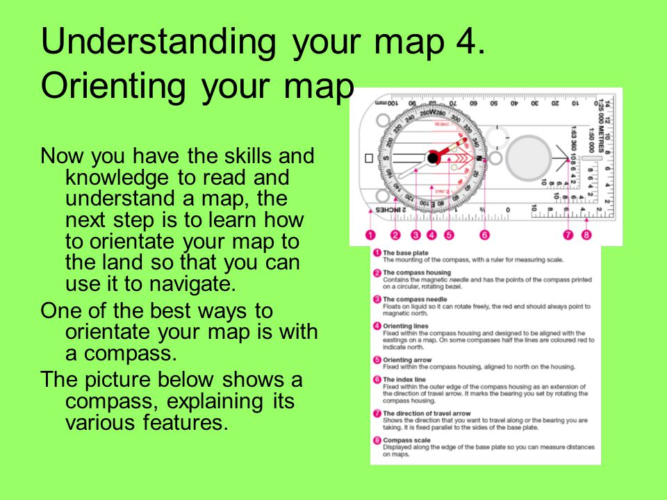 Understanding your map 4. Orienting your map